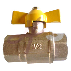 Brass Gas Ball Valve with Butterfly Handle/En331 Standard pictures & photos