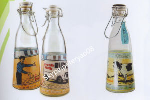 0.6L Glass Water Bottle with Click Ceramic Lid pictures & photos