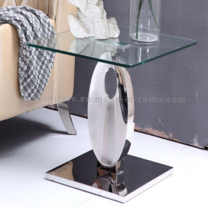 Glass End Table 2017 New Model Side Table with Metal pictures & photos