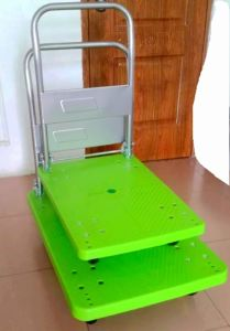 150kg Fashion Green Color Platform Trolley Noiseless Folding Hand Truck pictures & photos