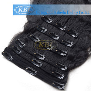 Human Hair Weft Brazilian Clip-in Hair pictures & photos