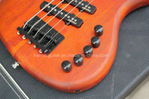 Hanhai Music / Orange 5-String Electric Bass Guitar with Ebony Fretboard pictures & photos