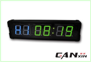 [Ganxin] Modern Design! 4 Inch Double LED Display Fitness Digital Alarm Clock pictures & photos
