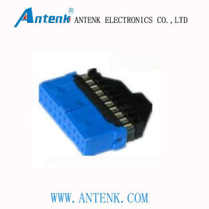 3.0 IDC 20pin Female (E Type With Latch) pictures & photos