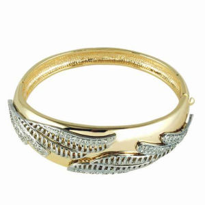 Silver and Gold Color Double Colors Fashion Jewelry Bangle (A03231B3S)