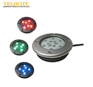 9PCS CREE IP68 RGB Stainless Steel LED Underwater Light for Swimming Pool