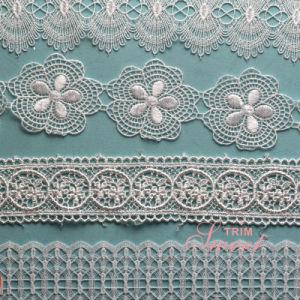 Wholesale Fancy Polyster Guipure Motifs Lace for Bridal Evening Dress pictures & photos
