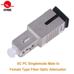 Sc PC Singlemode Male to Female Fiber Optic Attenuator pictures & photos