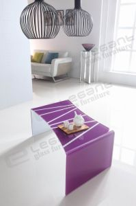 Transparent Curved Glass Center Table pictures & photos
