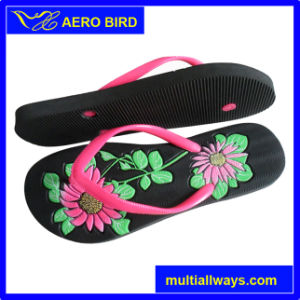 New Women PE Sandal with Engraved Flower Print pictures & photos