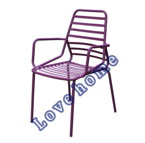 Modern Metal Dining Restaurant Armchair Stackable Chair pictures & photos