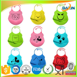 Cute Pattern Animal Design Silicone Rubber Baby Bib pictures & photos