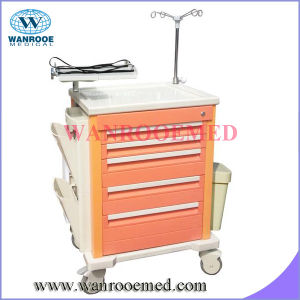 Emergency Cart with Cardiac Catheter Holder pictures & photos