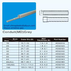 Plastic PVC-U Conduit in Orange and Grey Colour HD MD pictures & photos