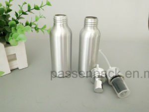 200ml Silver Aluminum Cosmetic Packagign Bottle with Spray Pump (PPC-ACB-062) pictures & photos