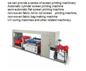 Fb-Nwf12010W Model The New Four Color Non-Woven Fabric Screen Printing Machine