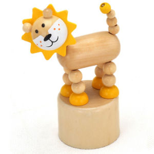 2015 Bset Seller Wood Animal Spring Toy Game, Wooden Spring Animal Toy for Baby, Wood Toy Animal Spring for Children W06D081 pictures & photos