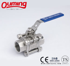 3PC M3 Stainless Steel Ball Valve with Handle pictures & photos