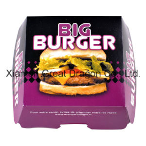13cmx4cm Set of 6 Prefolded Boxes Burger Boxes (BB008) pictures & photos