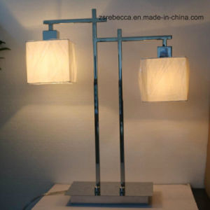 Double Fabric LED Table Lamp for Hotel Project pictures & photos