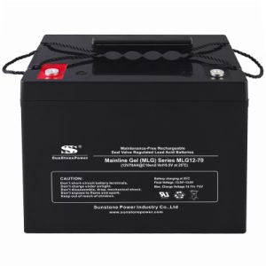 Deep Cycle Gel Battery 12V Voltage 70ah Solar Panel Batteries pictures & photos