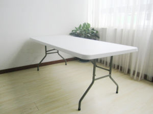 Rectangular Plastic HDPE Folding Dining Table pictures & photos