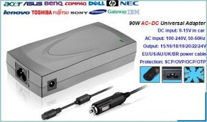 90W Universal AC+DC 2 In1 Adapter for Laptop