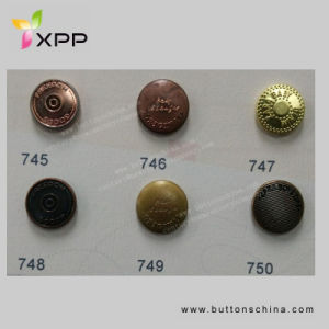 11.25mm 4 Hole New Style Metal Button Colorful Button pictures & photos