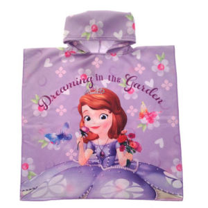 100% Cotton Competitive Kids Printed Beach Poncho of Cartoon Designs pictures & photos
