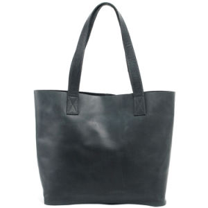 Real Leather Navy Color Fashion Women Handbag (RS-6015) pictures & photos