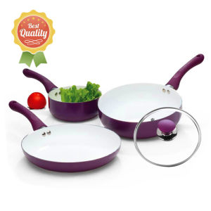 5PCS Aluminum Cookware Set in Ceramic Coating pictures & photos