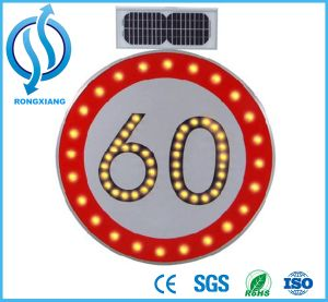 Solar Traffic Sign Speed-Limit and Warning Sign pictures & photos