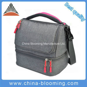 Two Compartments Insulated Keep Fresh Warm Cooler Cool Picnic Lunch Bag pictures & photos
