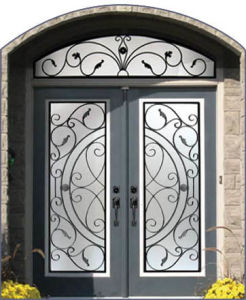Sz-D001 Luxury Wrought Iron Security Entry Door pictures & photos