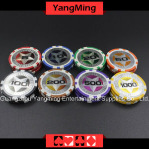12g Ultimate Sticker/ Poker Chips European Clay Laser Casinochips; (YM-CY02) pictures & photos