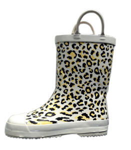 Girls Leopard Rubber Boots pictures & photos