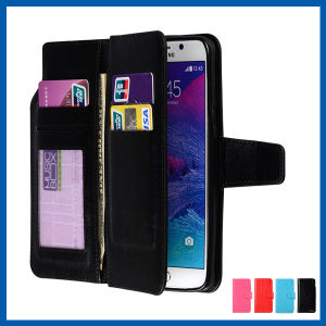 Leather Wallet Card ID Slot Holder Case for Samsung S6 pictures & photos
