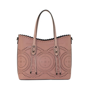 Fashion Laser Punched Bag in Bag Ladies PU Handbag Zxk805 pictures & photos