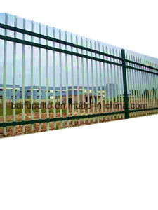 Outdoor Metal Fence HDG Iron Fence with Sharp End pictures & photos