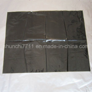 Recyclable Black Plastic Garbage Bag, Rubbish Bag, Trash Bag pictures & photos
