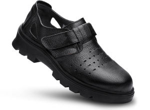 Stock Available Rubber Outsole Anti-Slip Black Safety Sandals pictures & photos