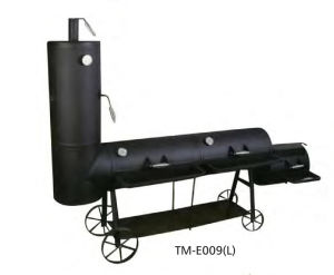 Vertical BBQ Smoker Grill with Chimney and Wheels pictures & photos