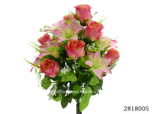 Artificial/Plastic/Silk Flower Rose/Lily Mixed Bush (2818005) pictures & photos