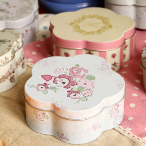Flower Shape Candy Tin Box pictures & photos