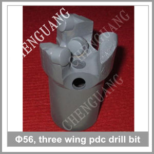 Hot Sale Steel Body 56mm Diameter 3 Wing PDC Drill Bit pictures & photos