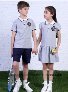 High Quality Children School Wear Students Cotton Uniform pictures & photos