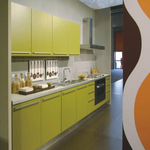 Glossy UV Kitchen Cabinet (K-108) pictures & photos
