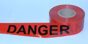 Red Film with Black Danger Printing Danger Tape pictures & photos