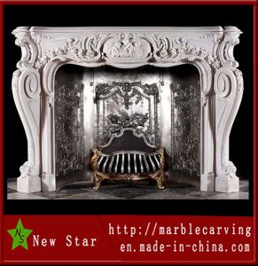 Hot Sale Marble Fireplace for Decoration (NS-1226) pictures & photos