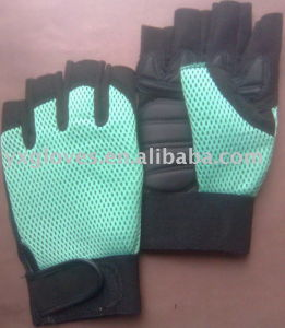 Half Finger Glove-Synthetic Leather Glove-Work Glove-Protective Glove-Safety Glove pictures & photos